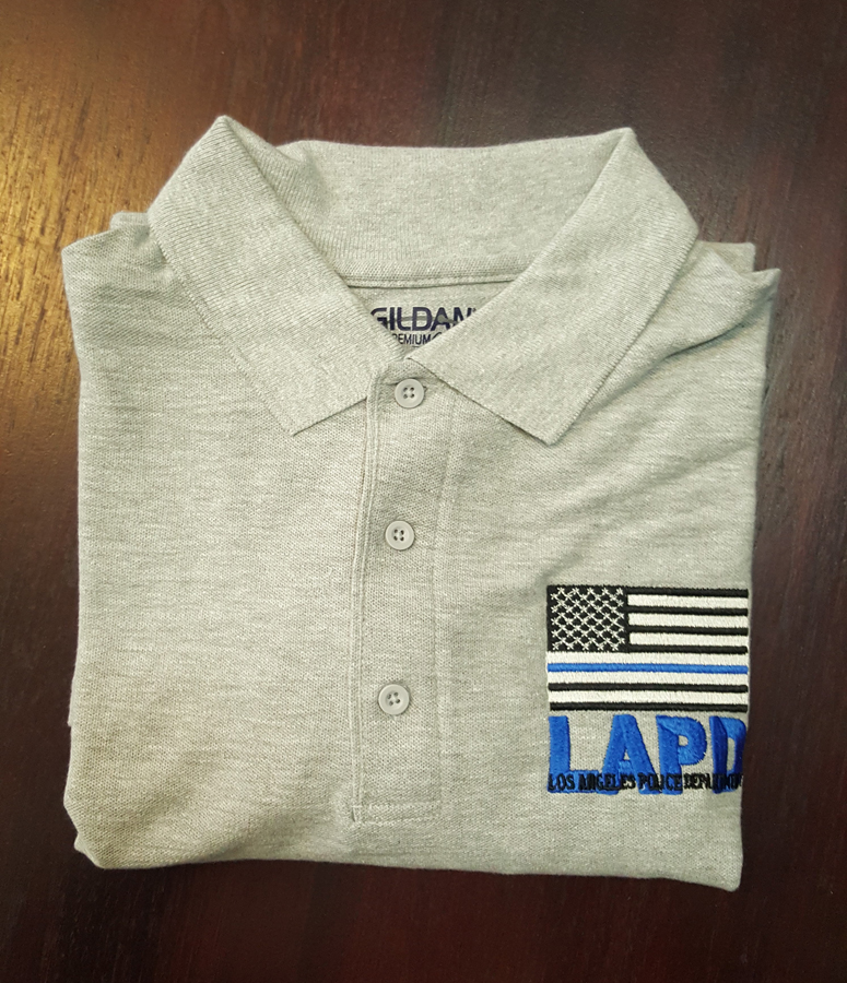 Store los angeles police museum gray short sleeve lapd polo 1995 reheart Images